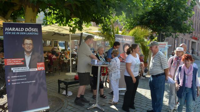 Infostand am Marktplatz, ©KlausHeger